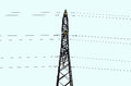 Free Power Line Tower Royalty Free Stock Image - 36486576