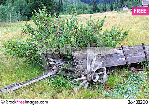 Free Old Weathered Wagon Stock Photo - 36488200