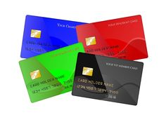 Free Set Of Credit Cards Stock Photos - 36482953