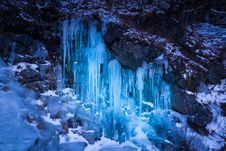 Free Ice Wall At Roan Mountain Stock Photography - 36483832