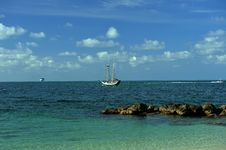 Free Sailboat At Tropical Waters Of Key West Stock Photos - 36484863