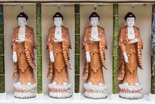 Free Four Buddha Statues Stock Photos - 36485833