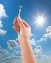 Free Hand Holding Key Stock Photo - 36496920