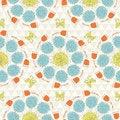 Free Seamless Sunshine Pattern With Flowers Stock Photo - 36498710