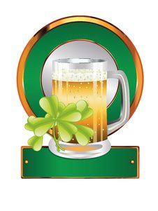 Free Beer And Clover Stock Photography - 36490382