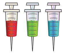 Free Cartoon Syringes Rgb Stock Image - 36490401