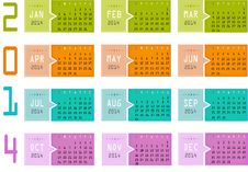 Free 2014 Calendar Royalty Free Stock Images - 36491429