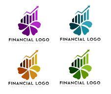 Financial Logo Royalty Free Stock Photo