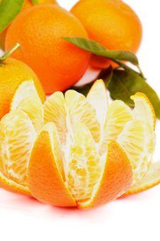 Free Tangerine With Segments Stock Photo - 36492930