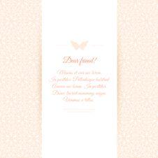 Free Beautiful Invitation Card On Ornate Background Stock Image - 36494751