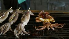 Taiwan Snack&x28;grilled Squid&x29;. Royalty Free Stock Photo