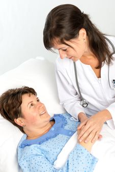 Free Nurse Cares For A Elderly Woman Stock Images - 36497174