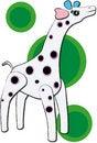 Free Giraffe Vector Royalty Free Stock Photography - 3651387