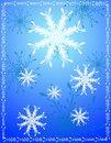 Free Decorative Blue Snowflake Background Royalty Free Stock Photography - 3655497
