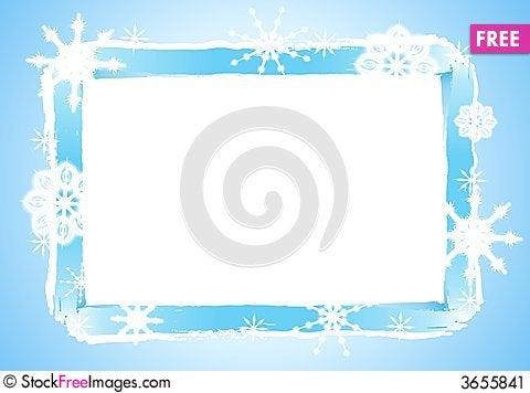 Free Rustic Snowflake Frame Or Border 2 Stock Image - 3655841