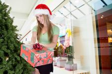 Free Woman Shopping In Mall Stock Photography - 3650212