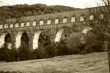 Sepia Stone Bridge Stock Image