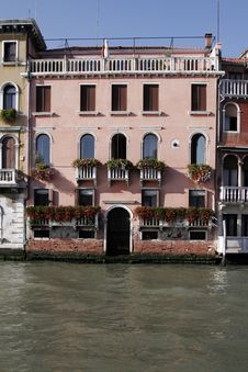 Free Venice, Italy - Water Front Facade Royalty Free Stock Photography - 3652737