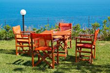 Open Air Cafe Stock Images