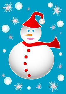 Free Frosty Snowman Royalty Free Stock Image - 3652896
