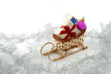 Free Sledge With Presents Royalty Free Stock Image - 3653156