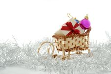 Free Sledge With Presents Stock Image - 3653161