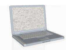 3d Security Laptop Firewall On Screen Stock Photos