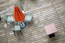 Free Umbrella, Table And Chairs Royalty Free Stock Images - 3653479