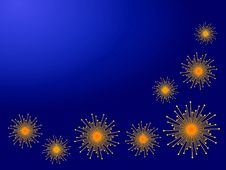 Fireworks / Star Decorations Royalty Free Stock Image