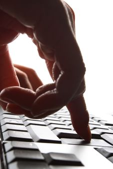 Free Fingers On Keyboard Stock Photography - 3654012