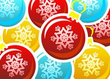 Free Xmas Balls Background Stock Photography - 3654102