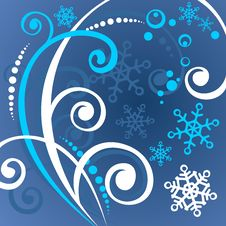 Free Blue Winter Pattern Stock Photography - 3654282