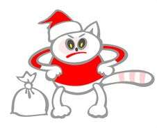 Free Christmas Cat Stock Images - 3654284