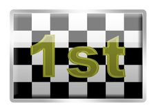 Free Chequered Flag Badge Royalty Free Stock Photo - 3654805