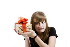 Free Teen With Christmas Gifts Stock Image - 3655661