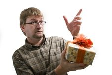 Free Man With Christmas Gifts Royalty Free Stock Images - 3655669