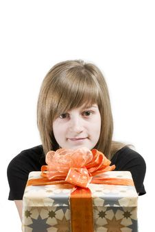Free Teen With Christmas Gifts Stock Image - 3655721