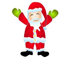 Isolated Cartoon Smiling Santa Clip Art Royalty Free Stock Image
