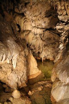 Belianska Cave (Slovakia) Royalty Free Stock Photo