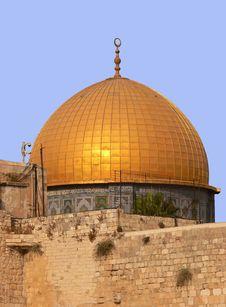 Golden Dom In Jerusalem. Royalty Free Stock Photo