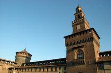 Free Sforza Castle Royalty Free Stock Photography - 3658127
