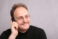 Free Man Speaks On The Cell Phone Stock Photography - 3658412