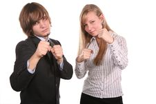 Boxer Young Couple Royalty Free Stock Photo