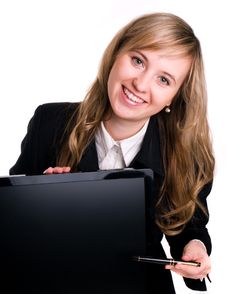 Free Buisinesswoman And Her Computer Royalty Free Stock Photo - 3659405