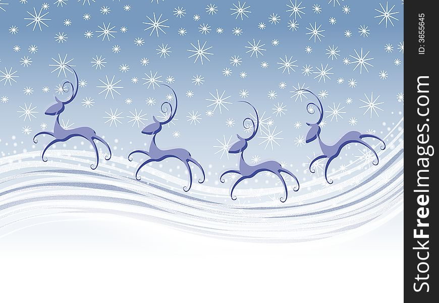 Abstract Flying Reindeer Background