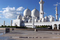 Free Side View Of Grand Mosque In Abu Dhabi Stock Image - 36501191