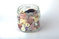 Free Jar Of Buttons Stock Photo - 36503690