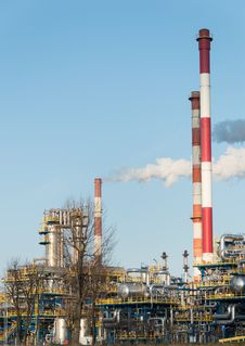 Oil Refinery Poland Royalty Free Stock Photo