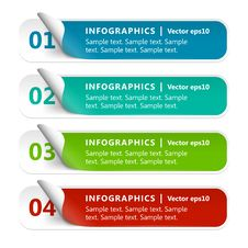 Numbered Paper Infographics Stock Image