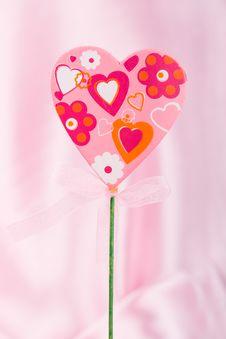 Free Pink Handmade Heart Stock Photography - 36503012